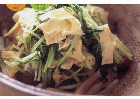 生ゆばと水菜の煮物